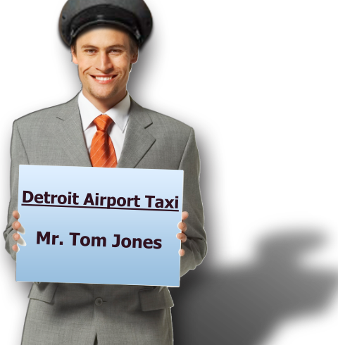 Uniformed Taxi Chauffeur with ID Badges